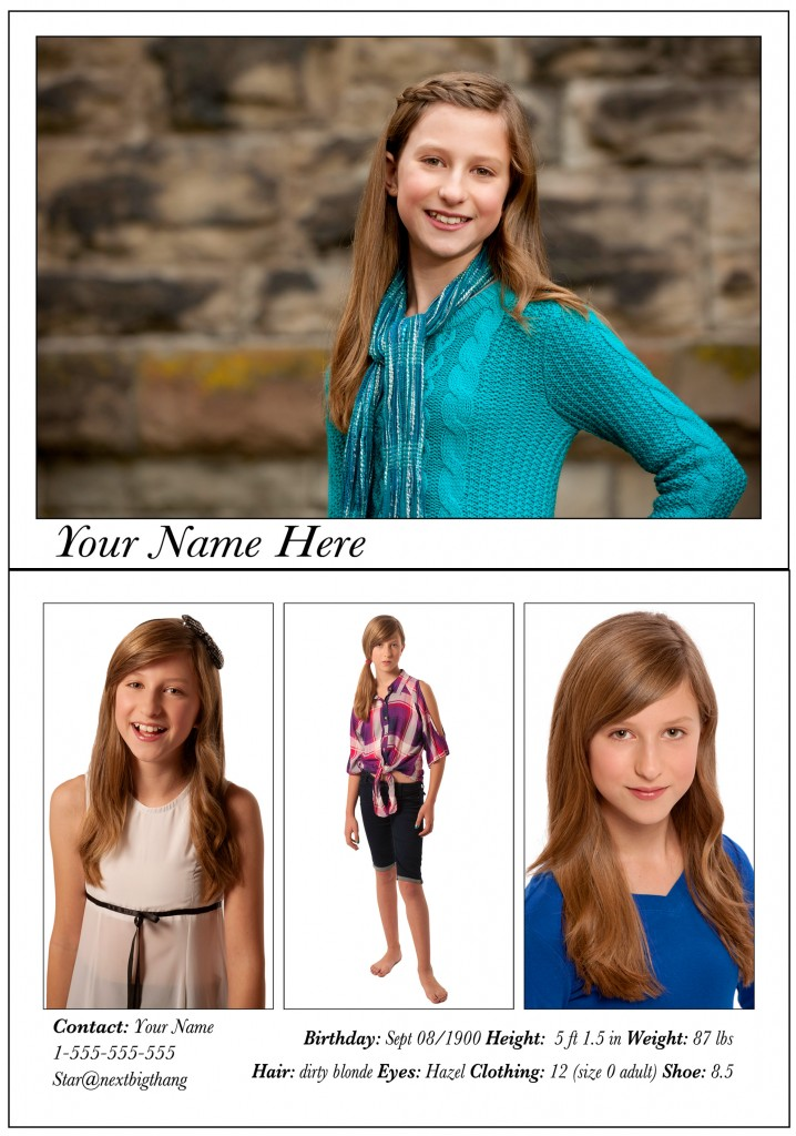 Comp Cards Victoria Headshots