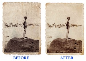 Image restoration enhancement and digital archiving